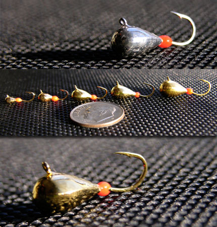 Bring 39 em in with the blade wades blades com for Tungsten ice fishing jig